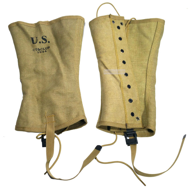 WWII WW2 US Army Gaiters Spats M1938 Legging Canvas