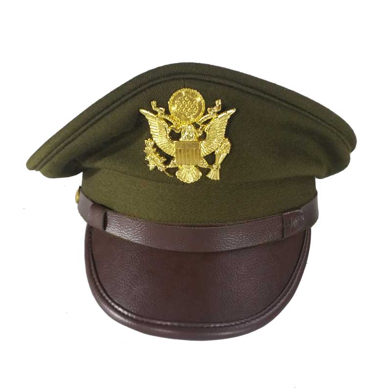 Replica US Army WWII Army Officer's Crush Cap Green