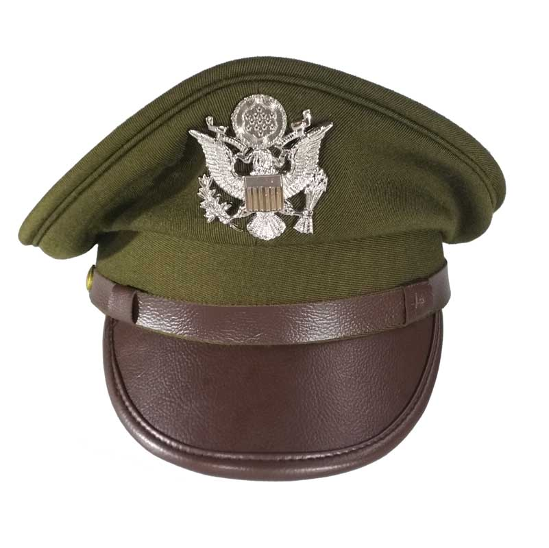 WWII WW2 US Army Air Force Officer Crusher Cap Military Hat Eagle Badge