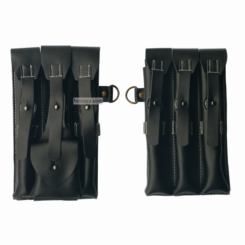 WW2 German MP38 / MP40 Leather Ammo Pouches