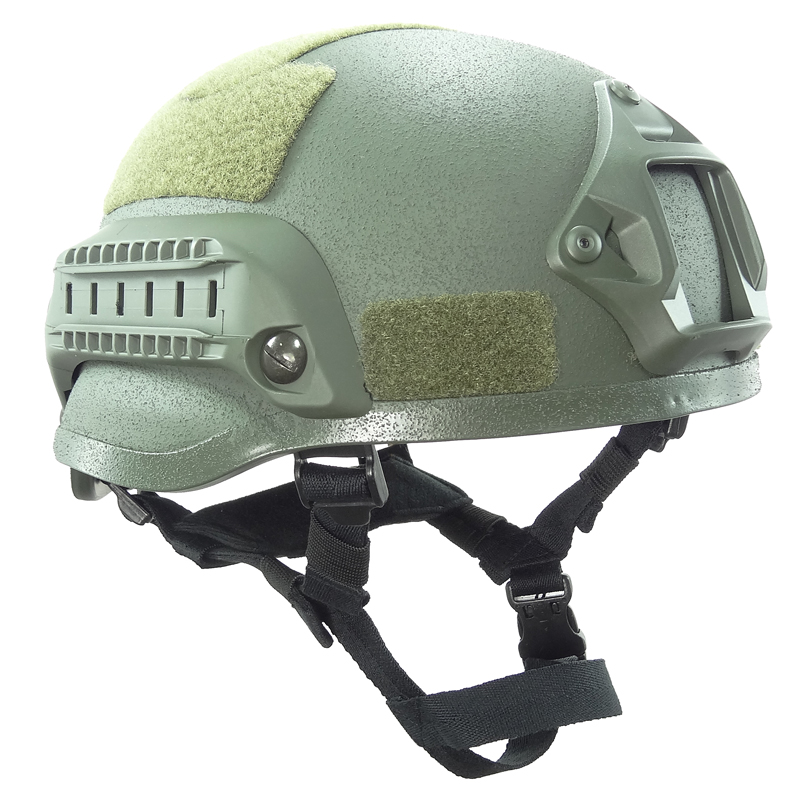 Tactical Mich 2002 Tactical Helmet Green Sand Airsoft Paintball