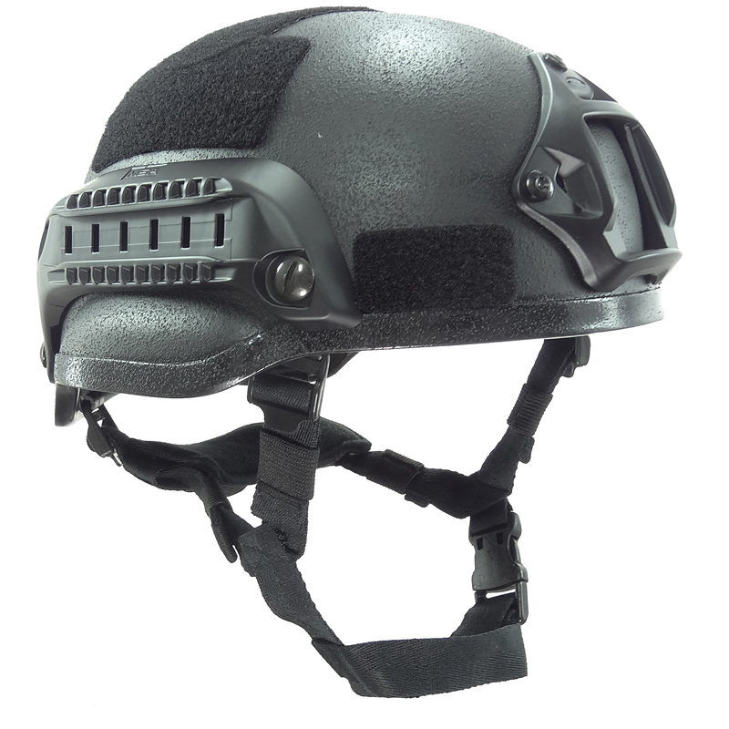 Black Tactical Mich 2002 Tactical Helmet For Airsoft Paintball