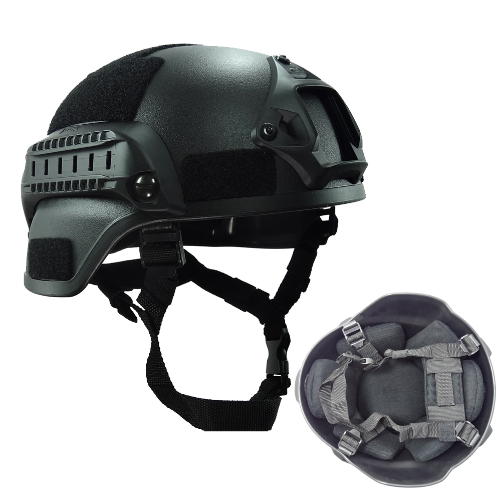 Black Simple Style MICH2000 Helmet for Airsoft Paintball