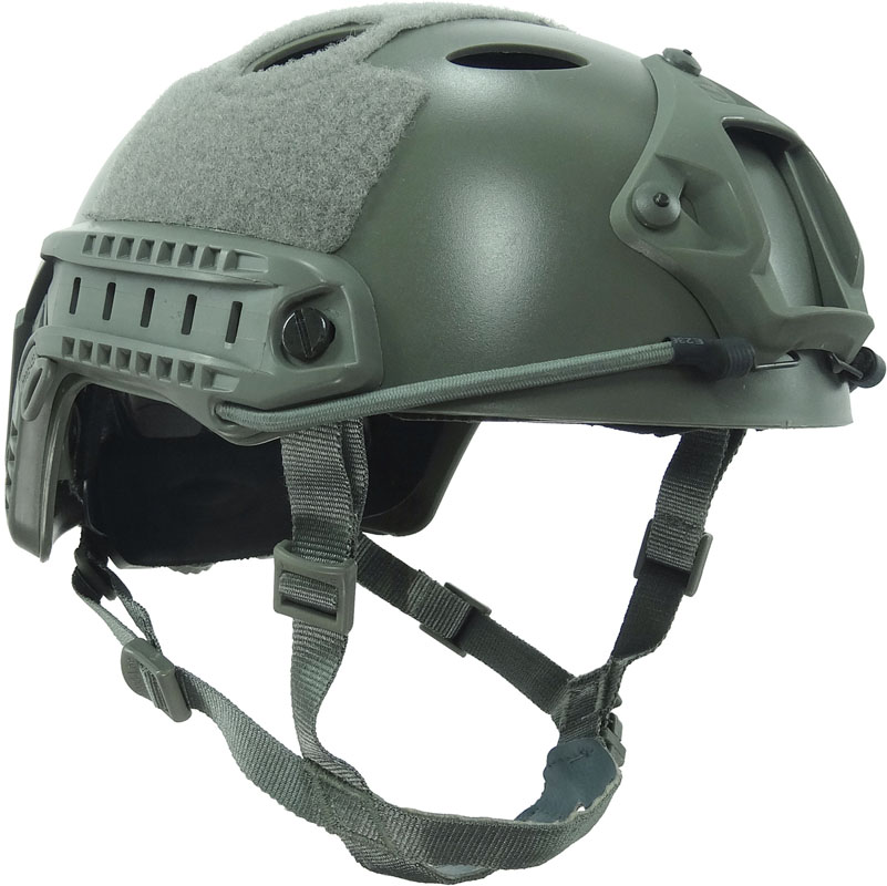 Tactical Military Green Fast Helmet PJ Version with Rails