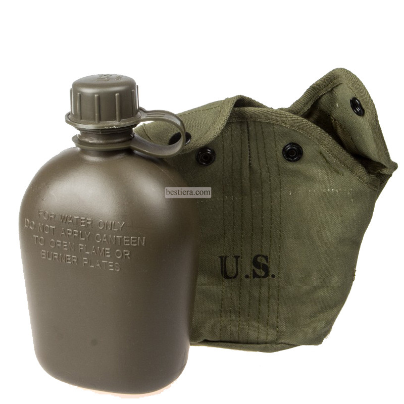 Vietnam War US Army Canteen Polymer Materials 0.8l