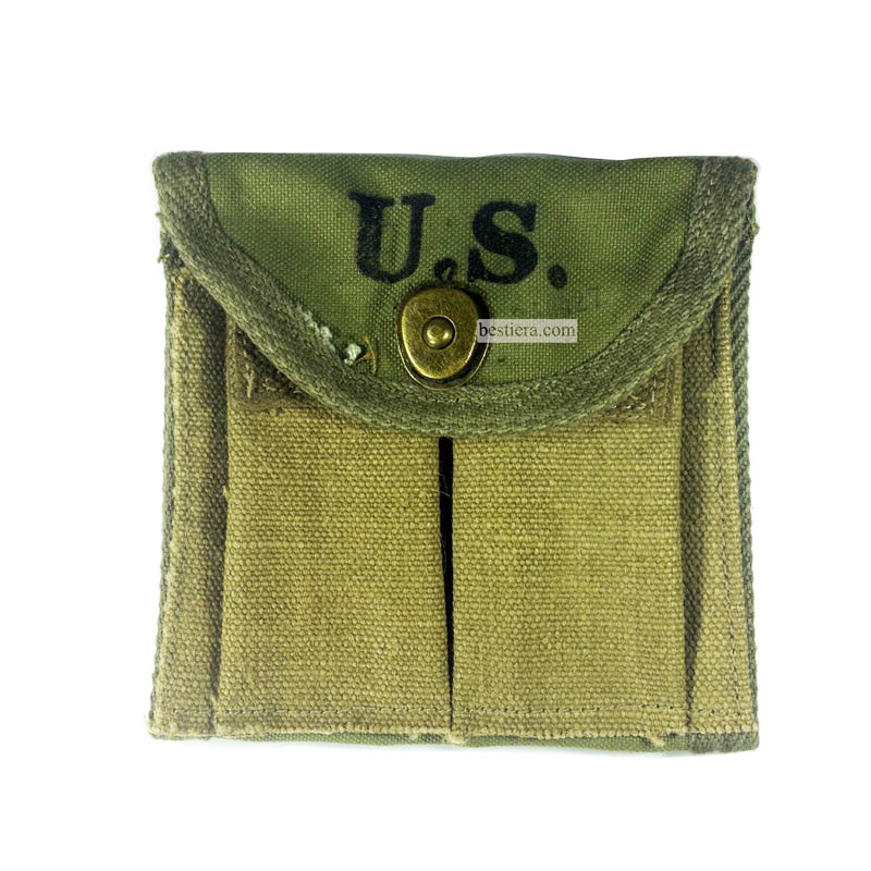 WWII US 1943 M1 Garand Carbine Pouch Canvas Rifle Mag