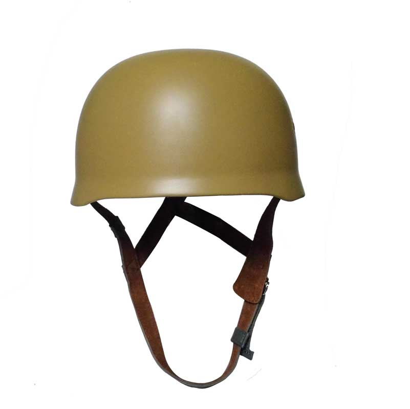 WW2 German WWII Paratrooper M38 Helmet Fallschirmjager Collectibles Genuine Leather Steel Shell Khaki Color