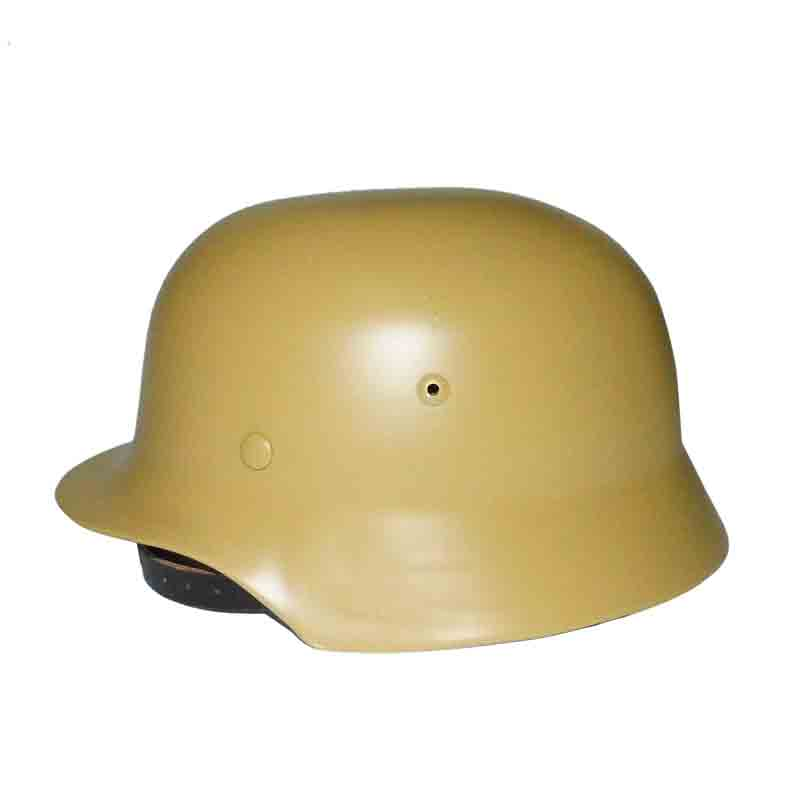 Tan WW2 German M35 Helmet Steel WH Army M1935 Stahlhelm Genuine Leather Liner