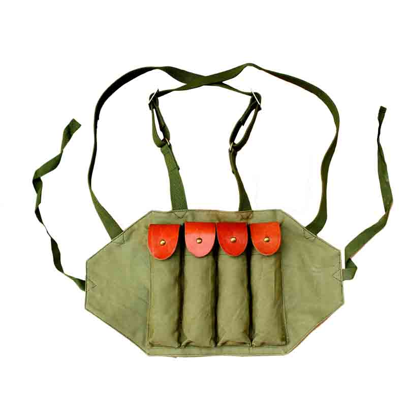 Repro WW2 WWII US Thompson 4 Chest Rig Ammo Magazine Pouches