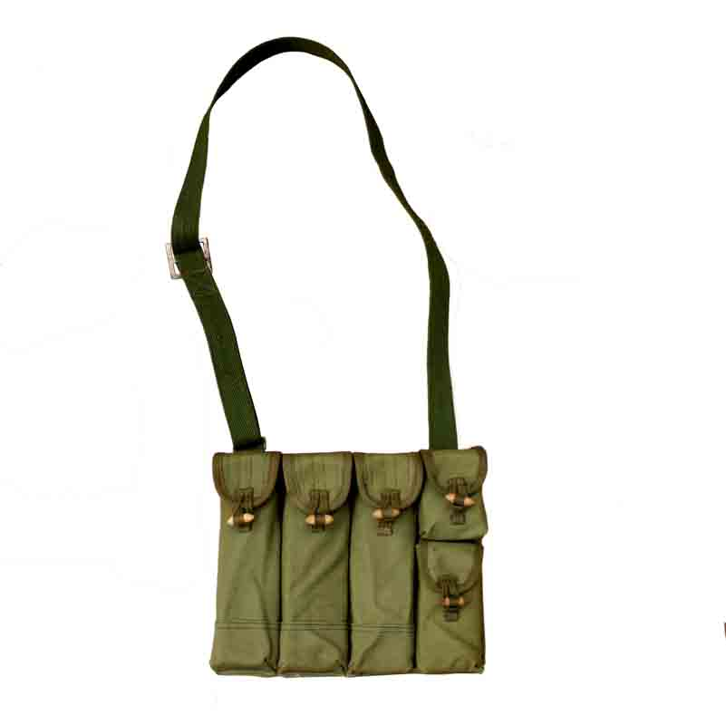 Original Surplus Korean War Vietnam War Chinese Type 54 Magazine Pouch 5 Pockets