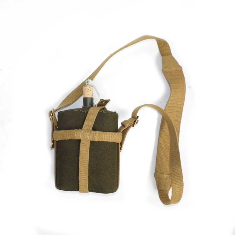 WW2 REPLICA WWII BRITISH ARMY UK P37 CANTEEN WITH WEBBING COVER STRAP