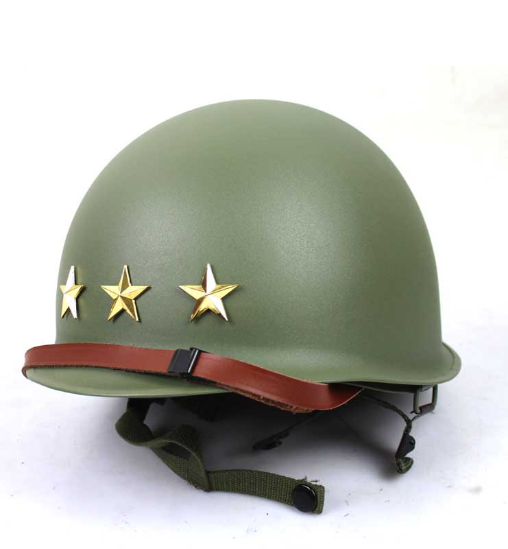 Reproduction WW2 WWII US ARMY M1 STEEL Helmet WITH STARS BADGE FULL SET
