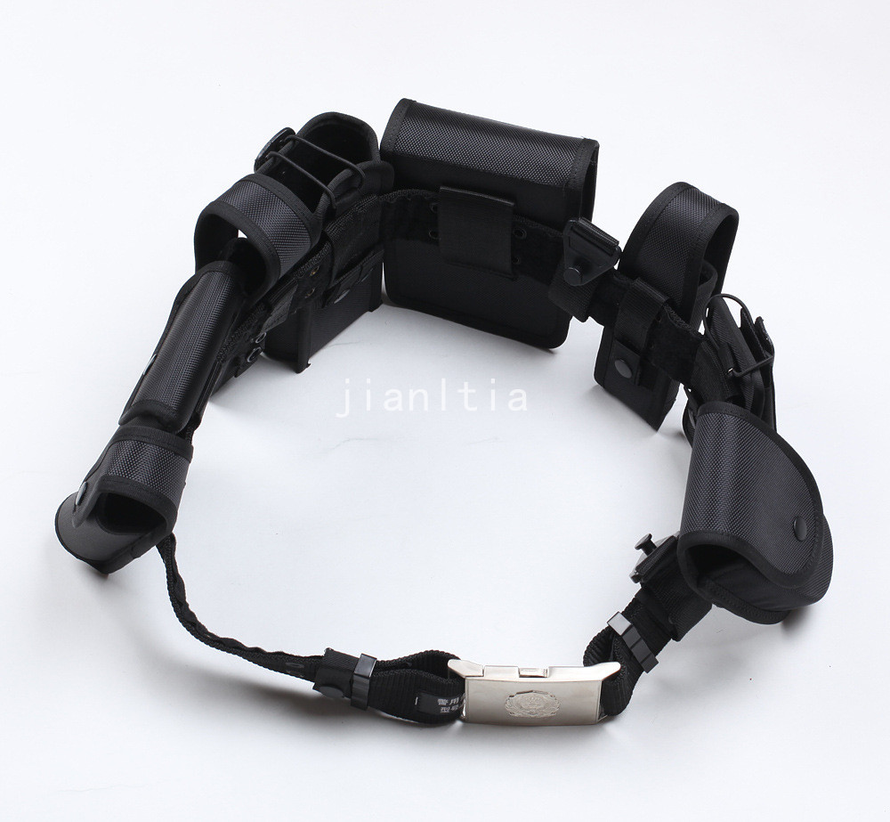 Black Rig Nylon Police Belt Equipment Security Guard Officer